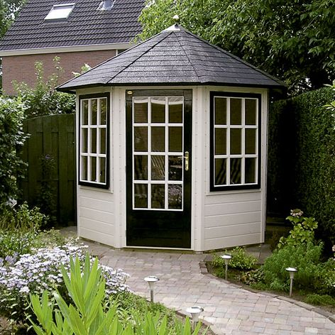 Prima leonie octagonal garden summerhouse from lugarde for Garden designs with summer house