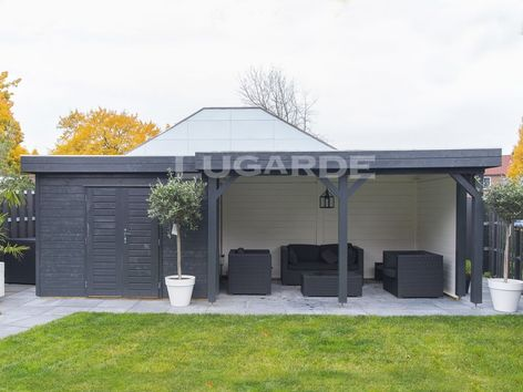 Lugarde Prima Edward flat roof summerhouse with canopy