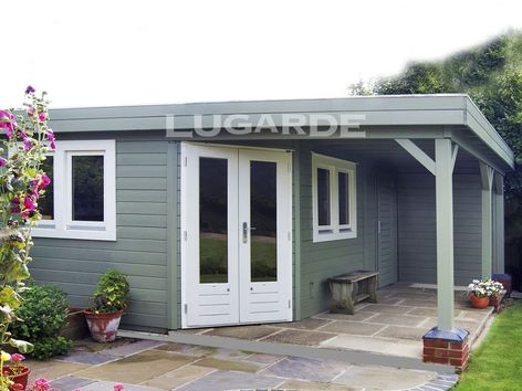 Lugarde Prima Isla flat roof summerhouse with canopy