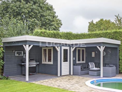 Lugarde Prima Lola Flat Roof Summerhouse With Two Canopies