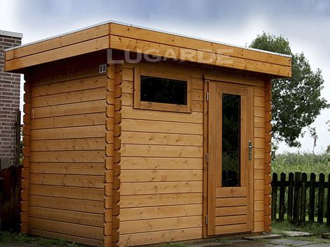 Yorkshire flat roof log cabins from Lugarde