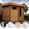 Lugarde Yorkshire flat roof log cabins